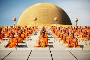 Mass ordination of Buddhist Monks